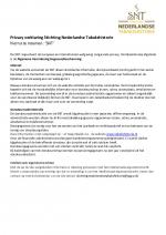 Privacy verklaring Stichting Nederlandse Tabakshistorie